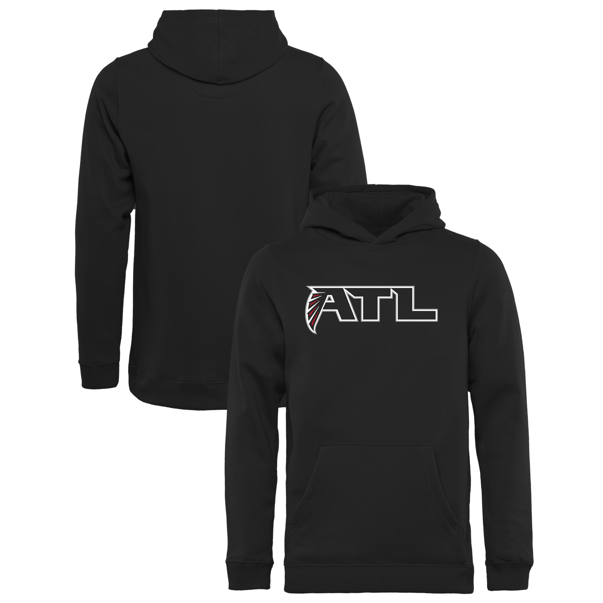 release date: 6a9a4 bae7c Atlanta Falcons NFL Pro Line Youth Alternate Logo Pullover Hoodie - Black
