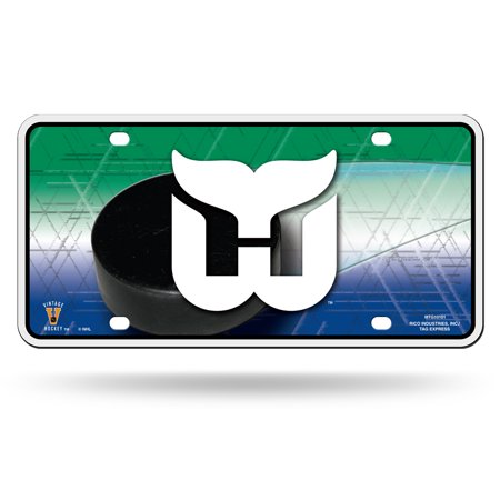 Hartford Whalers NHL 12x6 Auto Metal License Plate Tag