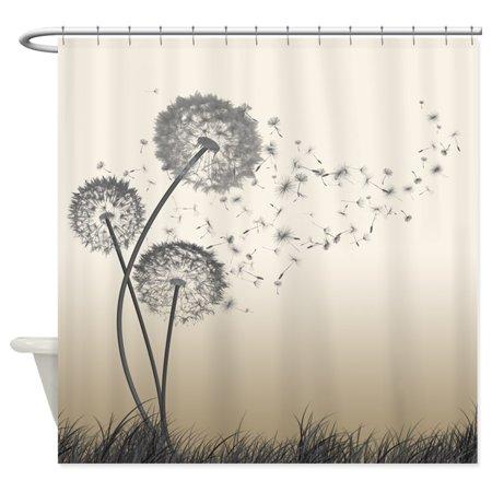 CafePress - Dandelion Wishes - Unique Cloth Shower Curtain ()
