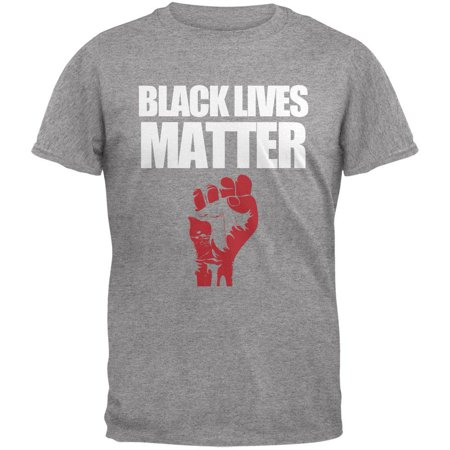 Black Lives Matter Heather Grey Adult T-Shirt