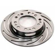 Strange STGB2781 10 in. Left Hand Universal Slotted Light Weight Brake Rotor, Silver Cadmium Plated