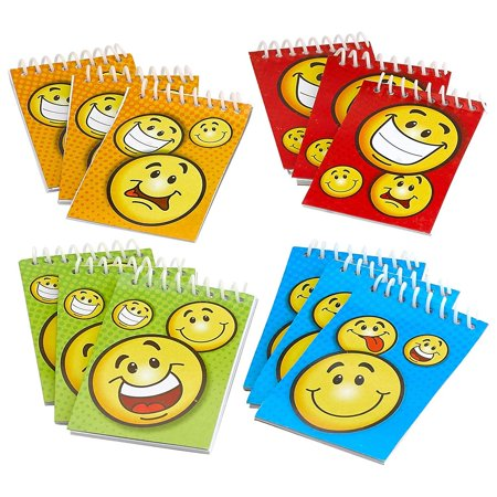 Spiral Smiley Notepads 2.25