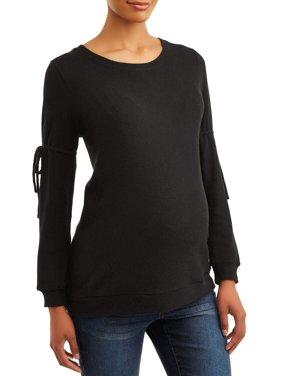 Time and Tru Maternity Cozy Long Sleeve Sweatshirt