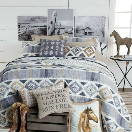 Walk, Trot, Canter Southwestern Quilted Bedding Collection Full/Queen By Levtex by Levtex