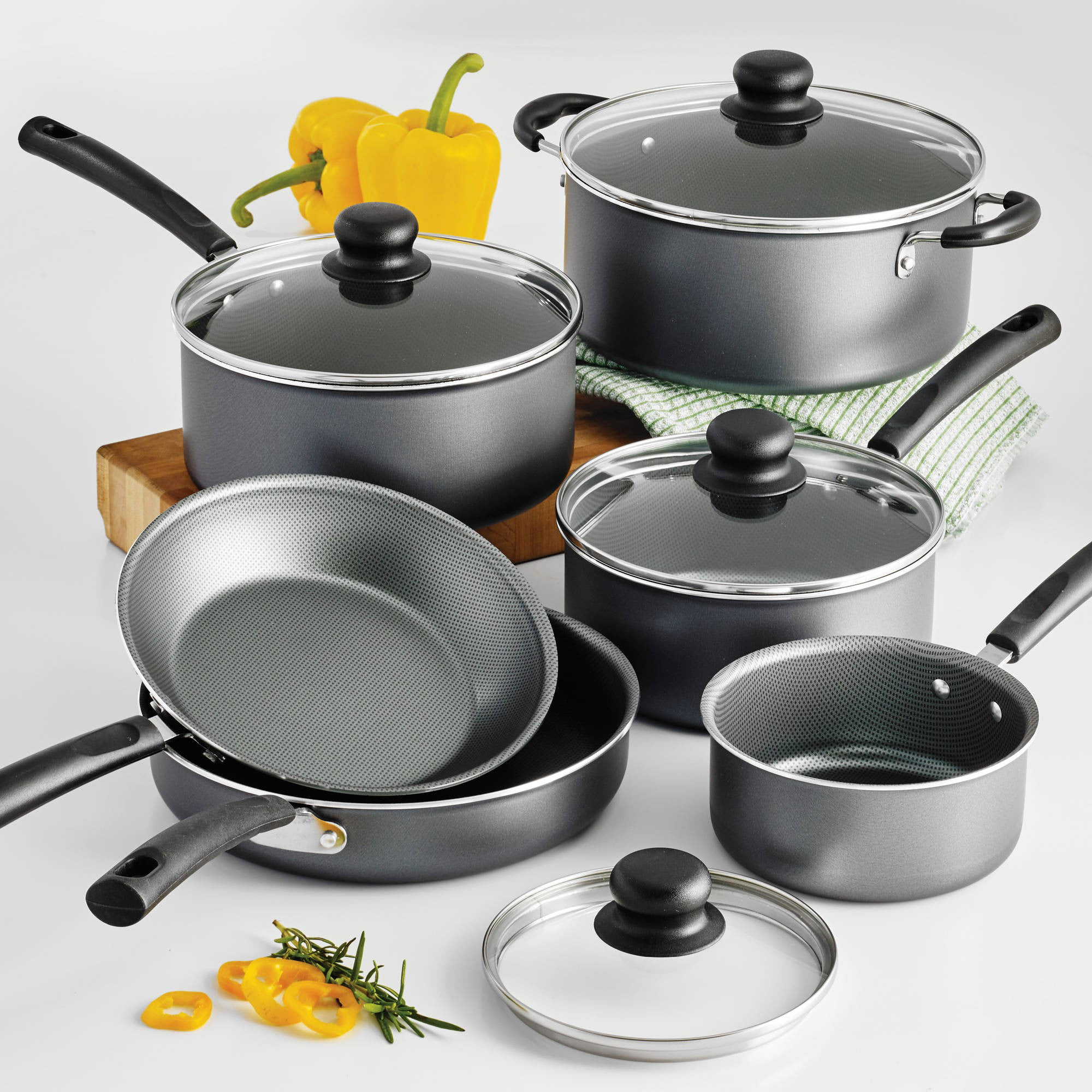Tramontina PrimaWare 10 Piece Nonstick Cookware Set by Tramontina