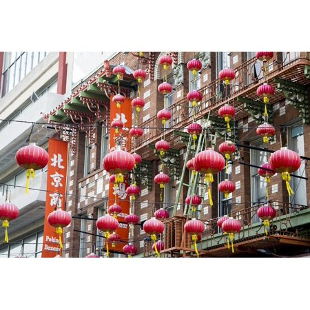 Canvas Print Chinatown Red Asian Lantern Culture San Francisco Stretched Canvas 10 x - Asia Sf Halloween