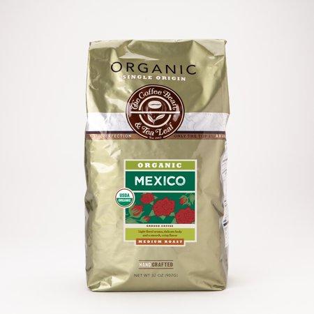 The Coffee Bean & Tea Leaf Mexico Organic Dark Roast Ground Coffee 2 lb. (Sterling Silver Tea Coffee)