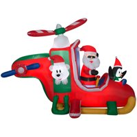 Holiday Time Yard Inflatables Animated Christmas Copter, 9 ft