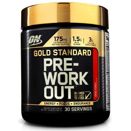 Optimum Nutrition Gold Standard Pre Workout Powder, Fruit Punch, 30 Servings