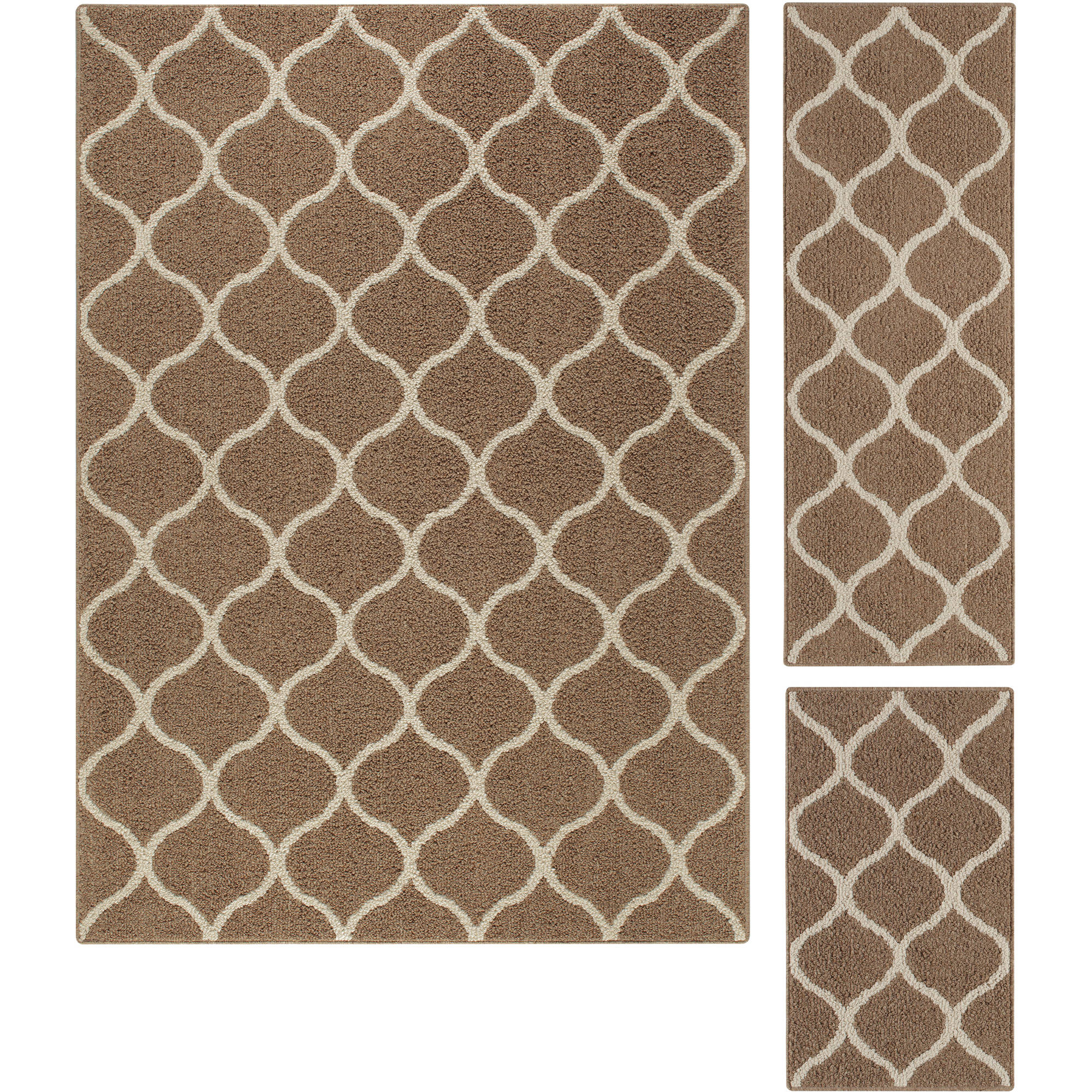 Mainstays Sheridan 3-Piece Area Rug Set