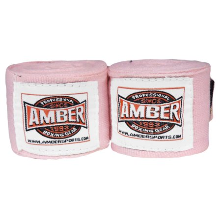 """Image of 180"""" Mexican Style Elastic Handwraps Pink"""