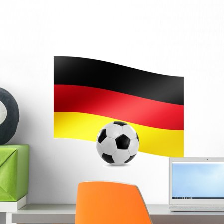 Football German Flag Wall Mural Decal by Wallmonkeys Vinyl Peel and Stick Graphic (18 in H x 17 in -