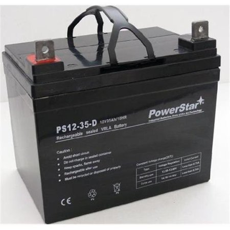 Powerstar Agm1235 140 12v 35ah John Deere Lawn Garden Tractor Riding Mower Battery Deep Cycle