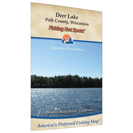 Deer Lake  Polk Co  Fishing Map