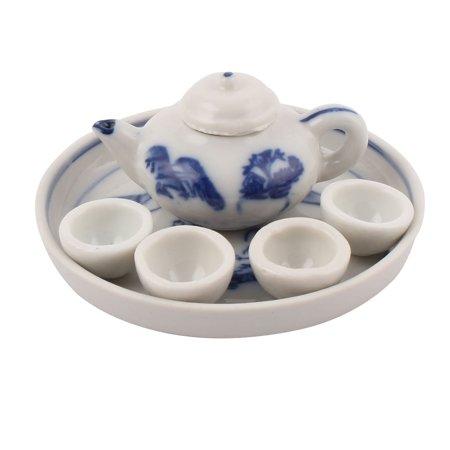 Unique BargainsCeramic Mountain View Pattern  Plate Teapot Cup Tea Set Craft Decoration](Cut And Paste Halloween Crafts)