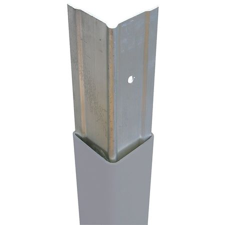 PVC-A-3-GY Corner Guard, 3x48In, Gray, 1 16In Insert by VALUE BRAND