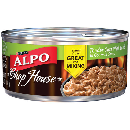 Alpo Wet 24-Pack Chop House Tender Cuts with Lamb in Gourmet Gravy Can, 5.5-Ounce