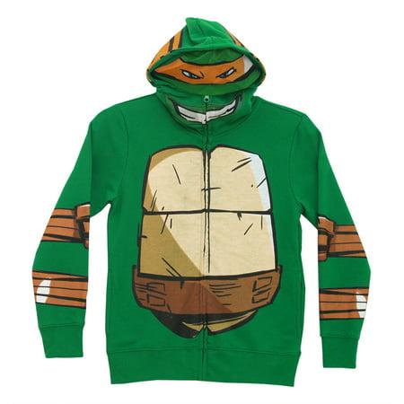 Teenage Mutant Ninja Turtles Mike Zip-Up Mask Big Boys Costume Hoodie Sweatshirt