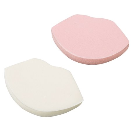 Two Face Cartoon Makeup (Unique Bargains 2 Pcs Lip Design Sponge Powder Puff Facial Face Pad Makeup Tool Women Lady Pink)