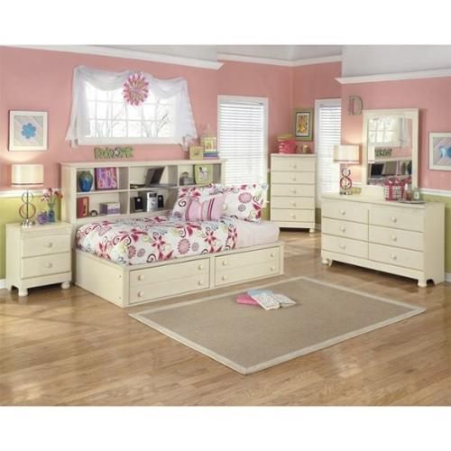 Ashley Cottage Retreat 5 Piece Wood Twin Bookcase Bedroom