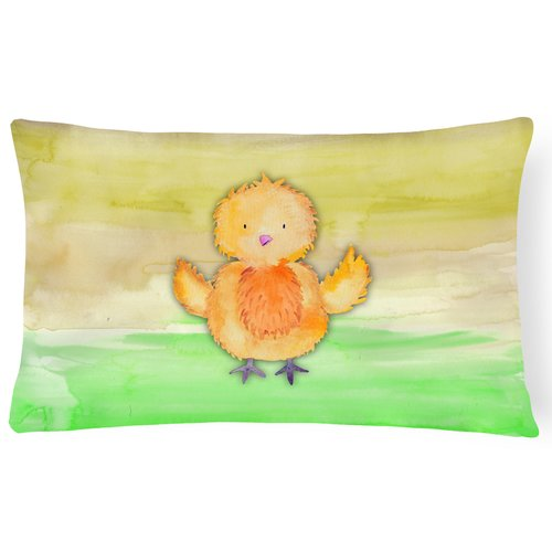 Zoomie Kids Tracy Chicken Watercolor Lumbar Pillow