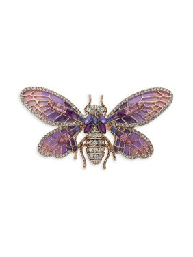 Cubic Zirconia Bug Brooch in Gift Box