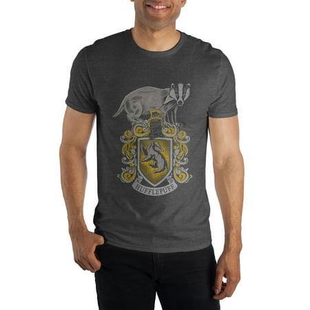 7ce5c4e0 Bioworld - Harry Potter Hogwarts House of Hufflepuff Crest & Badger Men's  Black Tee T-Shirt Shirt - Walmart.com