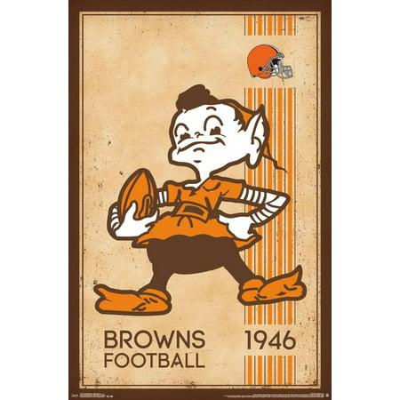 Cleveland Browns - Retro Logo (Cleveland Browns Decor)