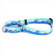Yellow Dog Design M-MWB100XS Mystic Waves Blue Martingale Collar - Extra Small