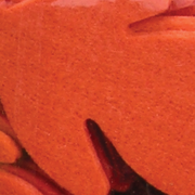 """Club Pack of 144 October Orange Fuzzy Felt Leaves in Assorted Sizes 1"""", 2"""", 3"""""""