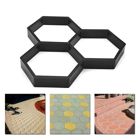 DIY Paving Pavement Concrete Stepping Driveway Stone Path Mold Patio Maker Mould ()
