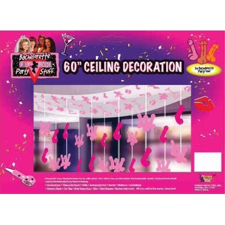 forum novelties outta control bachelorette party collection ceiling decoration, 60-inch