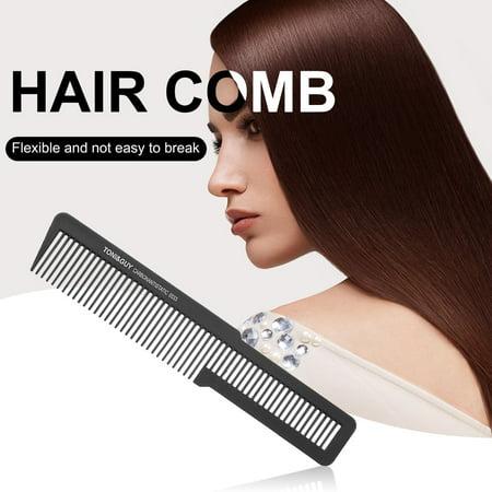 HC-TOP Antistatic Professional Hair Comb Hard Carbon Flat Head Cutting Combs Tool - image 1 de 6