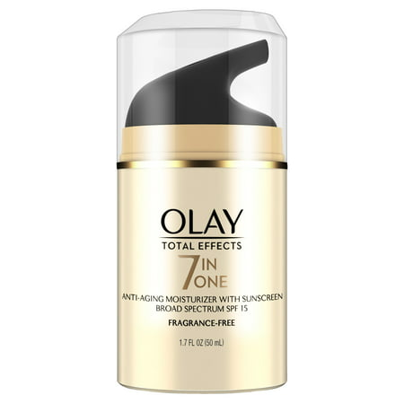 Olay Total Effects Anti-Aging Face Moisturizer with SPF 15, Fragrance-Free 1.7 fl oz Anti Aging Zinc Moisturizer