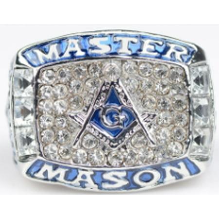 Master Mason Ring Masonic Championship Freemason Big Blue Lodge Fraternity With Sizes Gift (Cheap Championship Rings)