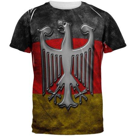 - German Flag Eagle Crest All Over Mens T Shirt