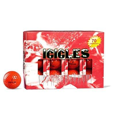 icicles women's v golf ball, red