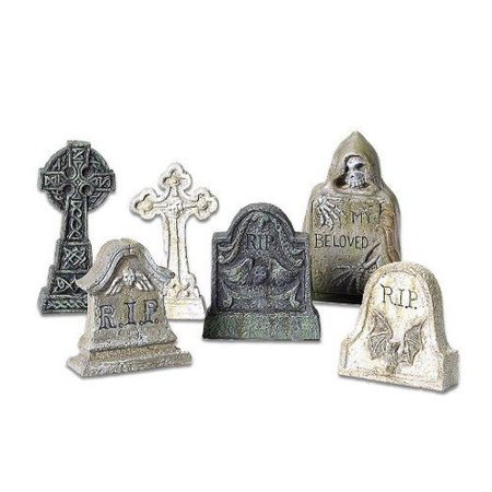 Department 56 Halloween Village Tombstone Accessory Figurines Set of 6 5653065