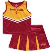 Iowa State Cyclones Colosseum Girls Toddler Pom Pom Cheer Set - Cardinal/Gold