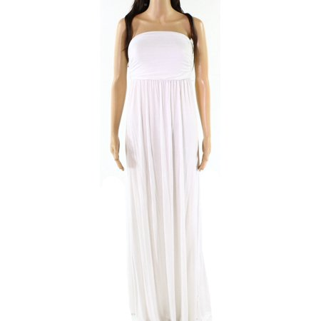 Culture Phit NEW White Ivory Womens Size Small S Ruched Maxi Dress