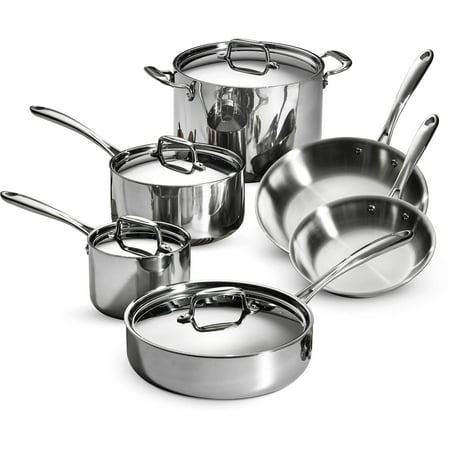 Tramontina 10-Piece Stainless Steel Tri-Ply Clad Cookware Set