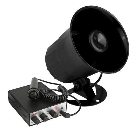 Car Siren Horn, Pyle Psrntk28 30w 6-tone Alarm Speaker Police Car Siren Pa  System