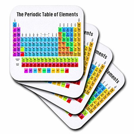 3dRose The Periodic Table of Elements, Ceramic Tile Coasters, set of 4