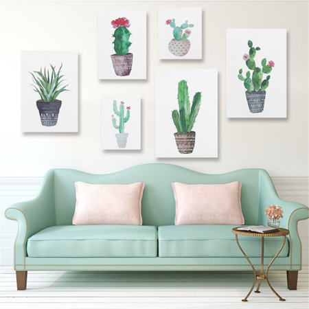 Unframed Watercolor Cactus Painting Print Picture Modern Home Wall Art Decoration Require a Frame 15.75
