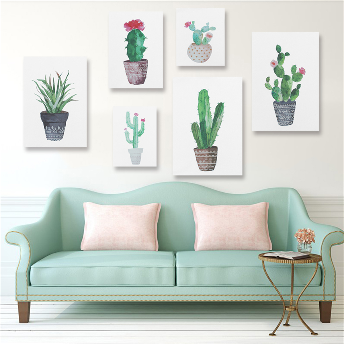 """Unframed Watercolor Cactus Painting Print Picture Modern Home Wall Art Decoration Require a Frame 15.75""""X11.81"""""""