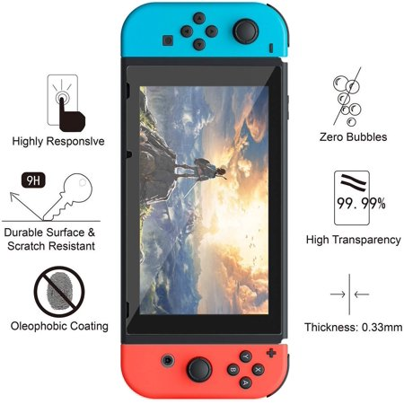 Mangotek Switch Screen Protector 0.25mm/9H Premium Tempered Glass Screen Protector for Nintendo Switch your screen (2-Pack) - image 3 de 7