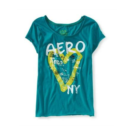 Aeropostale Hearts (Aeropostale Juniors Aero Heart Ny Pajama Sleep T-Shirt 160 Xl - Juniors)