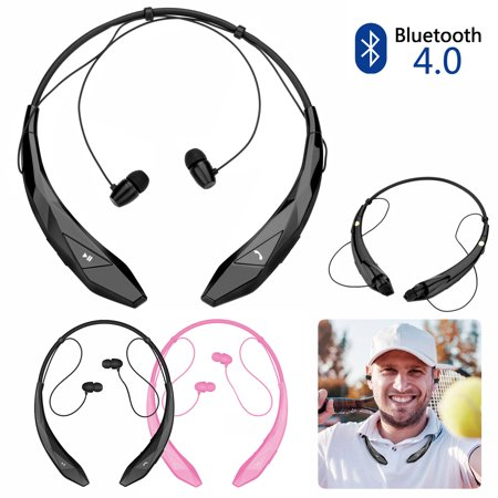 AGPtek Bluetooth Wireless Earphone Stereo Headphone Sport Handfree Universal Comfort and BASS Sound for iPhone &