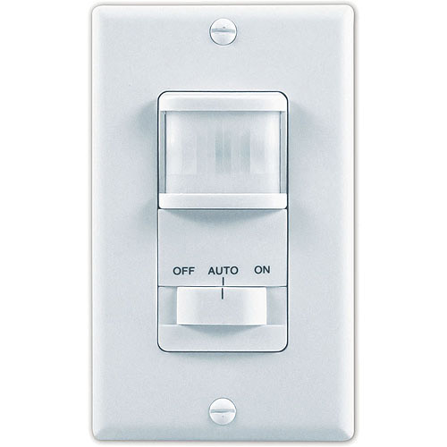 Heath-Zenith  150º Motion Activated 3-Way White Wall Switch
