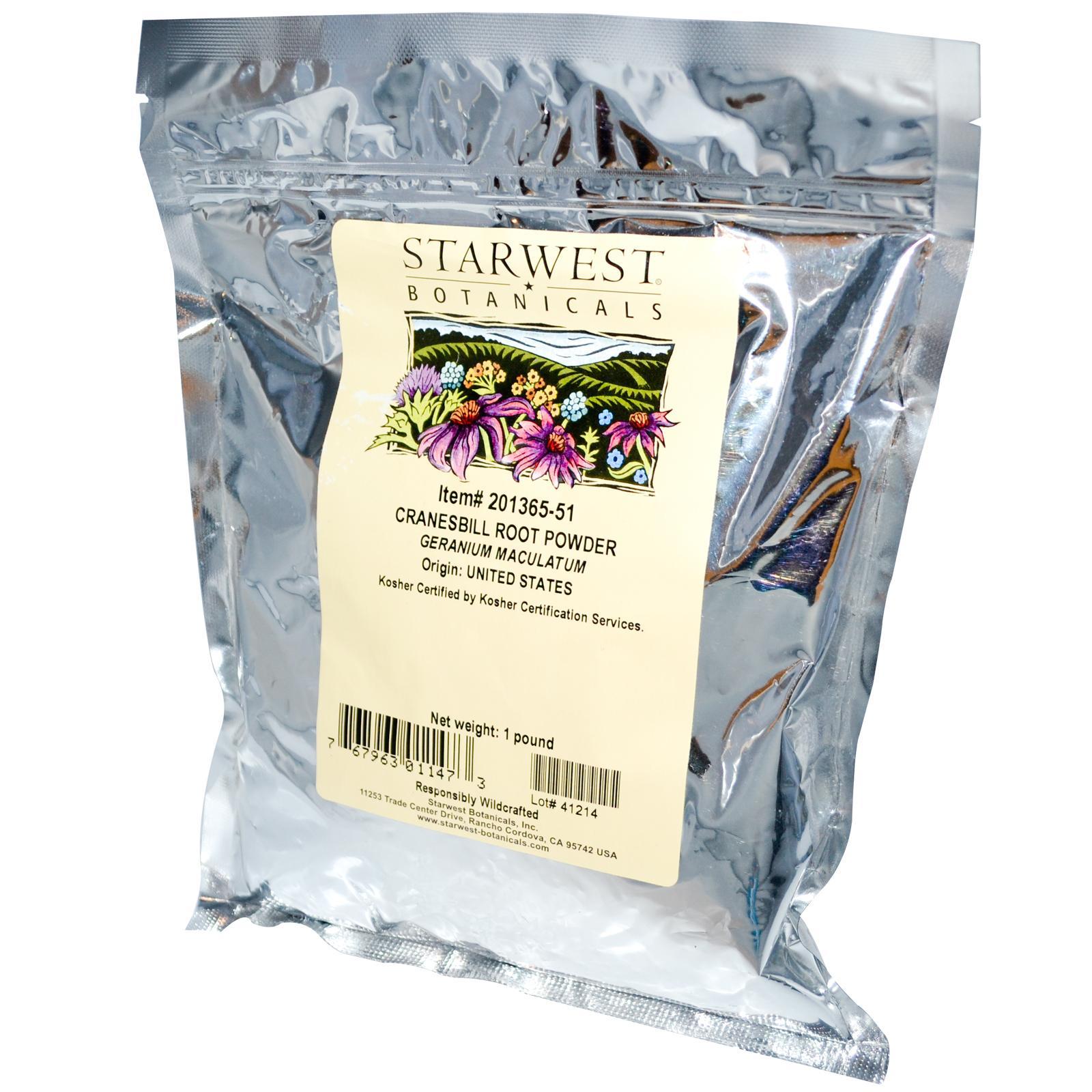 Starwest Botanicals: Cranesbill Root Powder, 1 lb